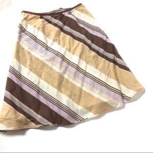 🔥 J. Crew tan cotton striped pale  skirt dress